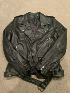 BLK DNM Black Leather Moto Jacket Size Small NWOT