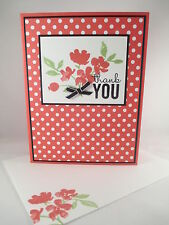 """Stampin Up """"Painted Petals"""" Handmade Thank You Card"""