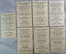 1950s Martin Theatre Program LOT HORROR DRACULA FRANKENSTEIN+ Mt Pleasant Texas
