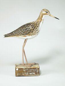ARCHIPELAGO Hand Carved Wooden Birds -Ruff Straight