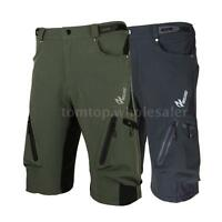Men's Cycling Mountain Bike MTB Bicycle Baggy Shorts Pants Zippered Pockets