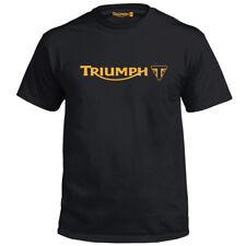 Genuine Official Triumph Motorbike Motor Biker Motorcycle Logo Black Men T-Shirt