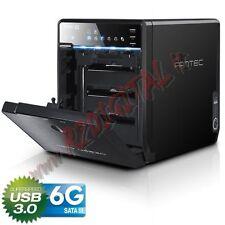 BOX QB-35US3-6G 4 HARD DISK USB 3.0 eSATA SALVATAGGIO PROTEZIONE DATI NAS BIG