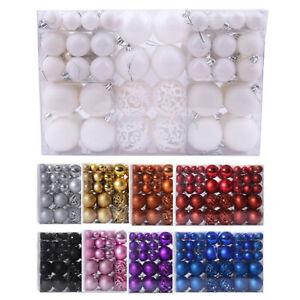 100x Christmas Balls Baubles Xmas Tree Hanging Ornaments Wedding Party Decor DIY