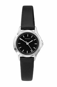 Sekonda Classic Ladies Black Dial Analogue Display Black Strap Watch 2694