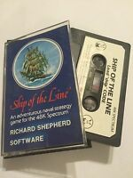 SHIP OF THE LINE SINCLAIR ZX SPECTRUM 48K TAPE Text Management Adventure GAME