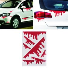7 Pcs Funny Bleeding Red Blood Drip Zombie Undead Reflective Car Vinyl Sticker
