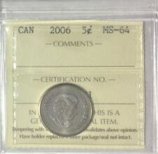 2006 Canada  5 cents - ICCS Certified MS 64 # 35336