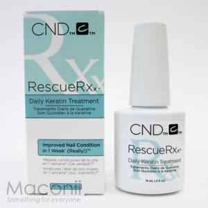 CND Rescue RXx 15ml Daily Keratin Treatment Nail Polish Restore Moisture Damaged