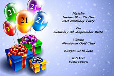 10 Personalised 18th 21st, 30th 40th 50th 60th Birthday Party Invitations