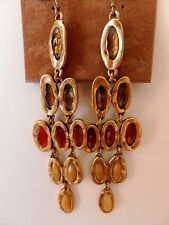 Lucky Brand Semi Precious Oval Stone Earrings MSRP $49
