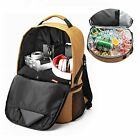 16 Cans Small Backpack Cooler with Bottle Opener for Camping 01Khaki