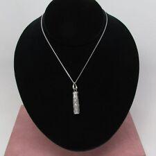 "Sterling Silver Perfume Vial pendant loop & swirl design 925 18"" Italian chain"