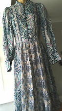 LIBERTY ORIGIN *EXTREMELY RARE* VINTAGE Paisley 12 Quilted Bib 70s Hippy Dress