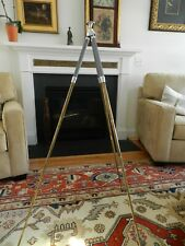 Vintage ISING German Brass Telescoping Legs Camera Tripod with Leather Case