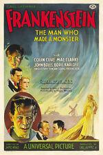Frankenstein (1931)  Boris Karloff Horror movie poster print 2