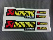 6 Adesivi Stickers AKRAPOVIC Yamaha resistente al calore