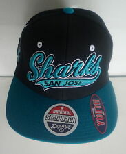 "San Jose ""Sharks""  Flat Brim Snapback Cap NWT - Youth"