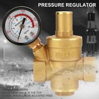 DN15 Réglable Brass eau régulateur de pression Réducteur Jauge Compteur Laiton