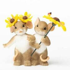 """Charming Tails Mouse 3 1/8"""" Sun Flowers You Make Everything Mor Fun #4035267 Nib"""