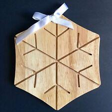 Dansk Wood Snowflake Cheese Tray/Cutting Board NWOT