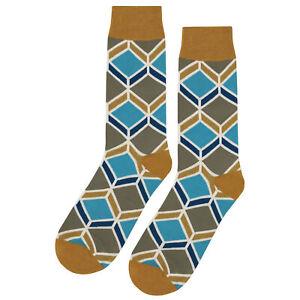 NWT Old School Tan Dress Socks Novelty Men 8-12 Gold Fun Sockfly
