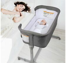 3 in 1 Baby Bassinet Bedside Sleeper for Baby Playpen Easy Folding Portable Crib