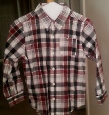 EUC Crazy 8 Boys Long Sleeve Plaid Button Up Shirt Boys Size S 5 6