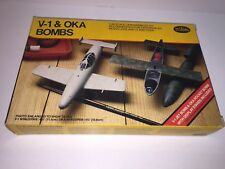 Testors WWII German V-1 Jet Bomb & Japanese OKA Rocket Bomb Model Kit 1/48