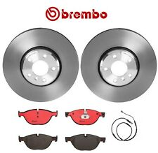 NEW Front 348mm Disc Brake Rotors & Pads Sensor Brembo for BMW F07 F10 528i 535i
