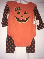 Garanimals Girls 2-Piece Long Sleeve Halloween Outfit Size 3-6 Months