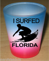 FLORIDA SOUVENIRS SHOT GLASS COLLECTABLE NOVELTY GIFT FUNNY - SURFER - 1405F