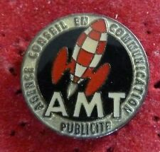 RARE PIN'S BD TINTIN FUSEE PUBLICITE AMT