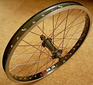 Original Rare Front BMX Wheel Sun Rhyno Lite Rim on Specialized Wideload Hub 14m