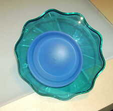 Tupperware Eleganzia Bonboniere - blau / grün - Rarität - NEU
