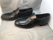 Vintage Sears Leather Mens dress shoes black Size 8 1/2 D 74008 667