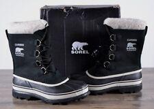 NEW Sorel Women's Winter Caribou Boot Size 9 MED Black Waterproof NL1005 Boots