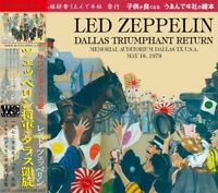 Led Zeppelin Dallas Triumphant Return 1973 CD 2 Discs 15 Tracks Hard Rock Music