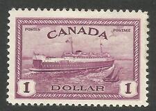 Canada 273, $1 Ferry boat.  VF hinged.