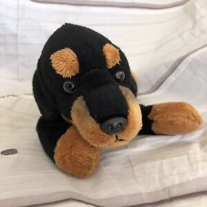 "FAO Schwarz Titus the Rottweiler Dog Plush Stuffed Animal Toy Puppy 12"""