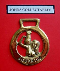 VINTAGE COLLECTABLE AQUARIUS STAR SIGN HORSE BRASS  LOTYY