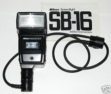 NIKON SPEEDLIGHT SB-16 Flash AS-8 Coupler SC-14 TTL Cord Cable JAPAN for F3 F3hp