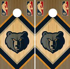 Memphis Grizzlies Cornhole Wrap NBA Wood Game Board Skin Set Vinyl Decal CO636