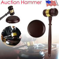 Wooden Auction Hammer Wood Gavel Sound Block for Lawyer Judge Auction Sale Decor