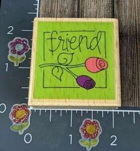 Kolette Hall Friend Flowers Tulips Studio G Rubber Stamp Wood #F108