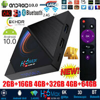 H96 MAX H616 Android 10.0 Smart TV Box WiFi BT Quad Core 16/64GB Media Player