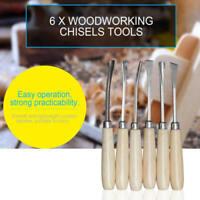 6* Holz Drehbank Meißel-satz Holzbearbeitung Drehwerkzeuge Schneiden S B GWO