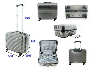 4 Wheel PC Pilot Business Doctor Laptop Case Travel Briefcase Bag Hand Luggage