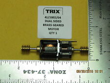 41/2002/04 TRIX DUAL SIDED BRASS GEARED MOTOR N SCALE FACTORY ORIGINAL PARTS
