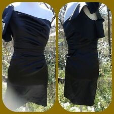 New $140 Hailey Adrianna Papell black  prom ruffle gown dress xs
